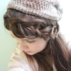 Never suffer from hat hair this winter! This braid is the perfect hairstyle to sport with any hat.