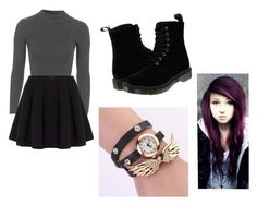 """""""Untitled #1"""" by meheinecke on Polyvore featuring Topshop, Polo Ralph Lauren and Dr. Martens"""