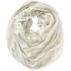 Aeropostale Lace Fringe Infinity Scarf ($8) ❤ liked on Polyvore featuring accessories, scarves, barely tan, infinity scarf, fringe infinity scarves, lace scarves, fringed shawls and aeropostale scarves