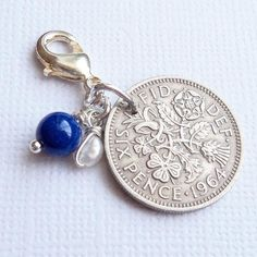Excited to share this item from my shop: Something Old, New, Borrowed & Blue Wedding Charm - Lucky Sixpence Bridal Gift - Garter - Buttonhole or Bouquet Charm - Bridal Shower Blue Bridal, Blue Wedding, Wedding Day, Dream Wedding, Farm Wedding, Wedding Reception, Something Old Something New, Something Borrowed, Wedding Pins