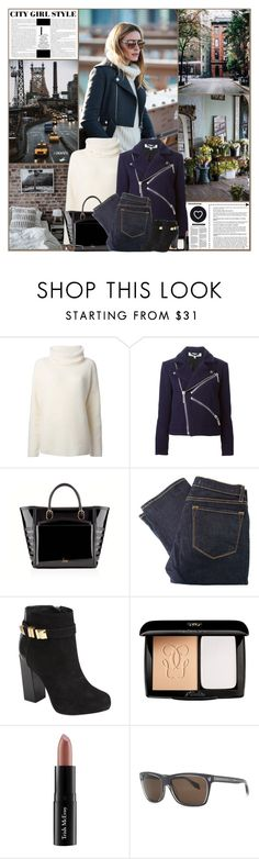 """""""City Girl Style"""" by kittyfantastica ❤ liked on Polyvore featuring Theory, Kenzo, Christian Louboutin, J Brand, Kat Maconie, Guerlain, Trish McEvoy, Alexander McQueen and Seletti"""