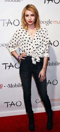 Emma Roberts on the red carpet in ASOS.