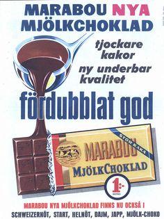 Swedish ad for Marabou chocolate - 1958