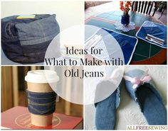 Got old jeans? Make them into something new with: 40+ Ideas for What to Make with Old Jeans