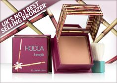 PINNER SAYS: Benefit Hoola Bronzer. This is my go-to for contouring. It can be applied lightly for fair skin tones, or heavily for tanned skin tones. It goes on easily and evenly. It is the best I have found for contouring. My Beauty, Beauty Secrets, Beauty Makeup, Beauty Products, Makeup Products, Beauty Tips, Face Products, Summer Beauty, Makeup Goals