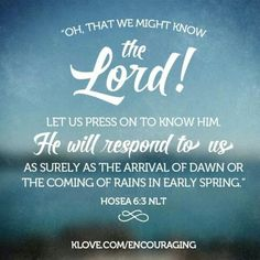 Knowing the Lord