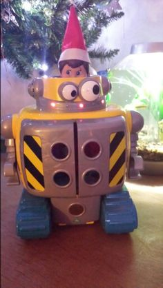 Polly playing at Robot Wars!