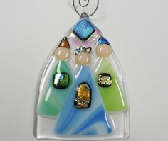 Three Wisemen Fused Glass Ornament by janesglassart on Etsy