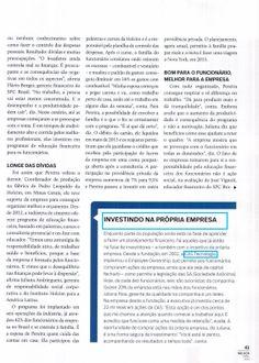 Título: Do azul ao vermelho - Investindo na própria empresa. Veículo: revista Melhor - Gestão de Pessoas Data: Abril de 2014. Cliente: CAS Tecnologia.