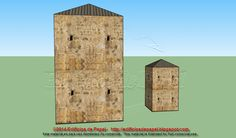 Back face of the towerWe are glad to offer two sizes for this new papermodel, at the same time available in the 6 usual scales. It is a stone tower with a roof that can be used in a variety of sets, from different periods, in two formats.