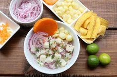 Ceviche péruvien de poisson _ Coming directly from Peru / Chili Asian Fish Recipes, Recipes With Fish Sauce, Whole30 Fish Recipes, White Fish Recipes, Easy Fish Recipes, Healthy Recipes, Corvina Fish Recipes, Walleye Fish Recipes, Dessert