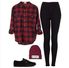 black n red Swag Outfits, Outfits For Teens, Casual Outfits, Cute Outfits, Casual Jeans, Fall Winter Outfits, Autumn Winter Fashion, Teen Fashion, Fashion Outfits