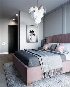 "Дизайн интерьера na Instagrame: ""Современная классика в интерьере спальни от @balcon.studio"" Bedroom Furniture, Furniture Design, Bedroom Decor, Modern Minimalist Bedroom, Bedroom Inspo, Bedroom Ideas, Luxury Bedding, Minimalism, House Design"