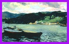 Joaquin Sorolla y Bastida paintings of Estuary of the Nalon Asturias modern art Landscape High quality Hand painted