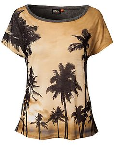 TOPS - ONLY / NIGHT PALM TOP - NELLY.COM