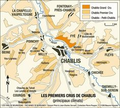 Chablis Region Map