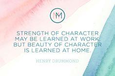 Monday Meditation: Character Building | via The Honest Company Blog