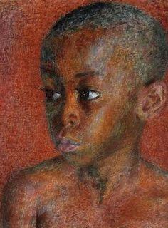 """Portrait of a boy,"" Dod Procter (1890 - 1972)"
