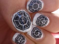 Girls Movie Night - Manicure idea for LOST fans