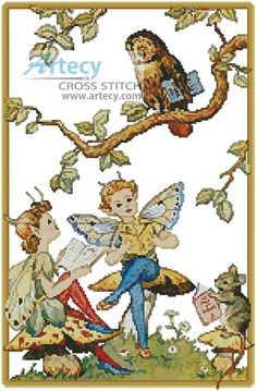 The Reading Lesson Counted Cross Stitch Pattern http://www.artecyshop.com/index.php?main_page=product_info&cPath=31_34&products_id=1198