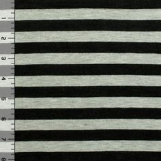 040b8e7898d Black and Heather Gray Stripe Cotton Jersey Blend Knit Fabric Grey Stripes