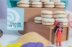 Viki Wonder Party's Birthday / Moana - Photo Gallery at Catch My Party Moana Birthday Party, Birthday Parties, Party Decoration, Macarons, Party Ideas, Bar, Candy Stations, Candy Buffet, Fiestas