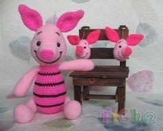 Piglet pink 12inches  PDF amigurumi crochet pattern by Chonticha, $5.00