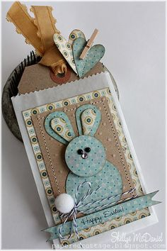 *** 3/11 Bunny tag/card How cute for Easter along with a gift card instead of an Easter Basket