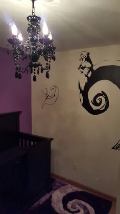 High Quality Our Nightmare Before Christmas Nursery! Wall Decal And Chandelier From  Amazon. Rug From Wayfair Home Design Ideas