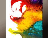 Abstract Art Canvas Painting 18x24 Contemporary Art Paintings by Destiny Womack - dWo - Beyond the Rainbow