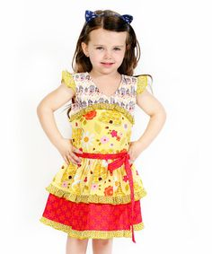 b2bb534d399 Jelly the Pug Yellow Bee Sweet Lilly Dress - Toddler   Girls