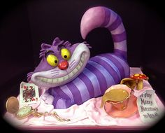 Cheshire Cat by Debbie Does Cakes    This artist and all of her cakes had me in awe. I am adding this cake to my bucket list. If you get a chance check her out at http://www.flickr.com/photos/debbiedoescakesnet/