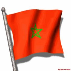 Animated flag of Morocco