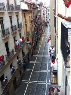 Calle Estafeta en Pamplona, Navarra