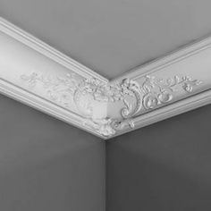 Discover thousands of images about Orac Decor Luxxus Crown Molding -- Crown Molding Dimensions: Crown Molding Length: ft., Crown Molding Height: in., Crown Molding Projection: in., Crown Molding Face: 10 in. Molding Ceiling, Ceiling Medallions, Cornice Design, Moldings And Trim, Classic Ceiling, Ceiling Decor, Orac Decor, Home Ceiling, Cornice