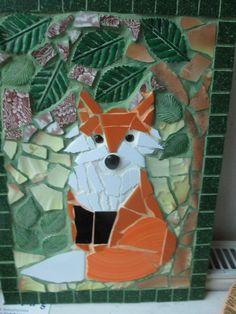 Mosaic Fox in a Garden. £30.00