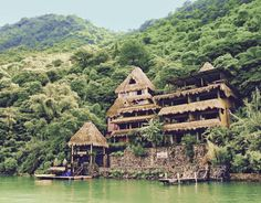 Laguna Lodge Eco-Resort & Nature Reserve - Lake Atitlan, Guatemala: or Stay for Two with Breakfast at Laguna Lodge Eco-Resort & Nature Reserve in Guatemala; Air not Included Tikal, Best Honeymoon Destinations, Travel Destinations, Honeymoon Spots, Honeymoon Planning, Honeymoon Ideas, Honeymoon Checklist, Travel Tips, Honeymoon Cruise