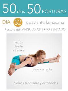 50 días 50 posturas. Día 32. Postura de la flexión con ángulo abierto sentado