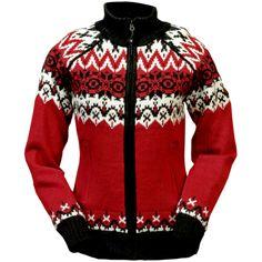 Grethe Norwegian Lined Sweater  Jacket Knit Warm
