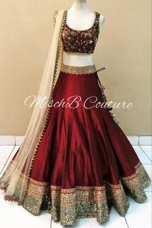 Dark Red Designer Lehenga Choli