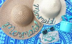 How to make your own Mommy and Me matching Mermaid Summer Hats for less than $5, easy to follow tutorial to make a splash this summer