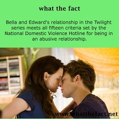 "And people go, ""I want a relationship like Bella and Edward's."" Really? You do?"