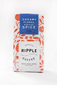 Ripple Coffee - bright and colorful packaging