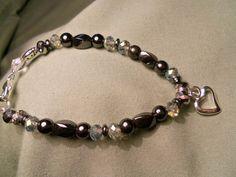 Magnetic Hematite twist bead bracelet for arthritis