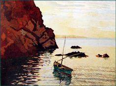 """Llewelyn Lloyd (Livorno 1879 – Firenze 1949), """"Sera all'Isola d'Elba"""", 1946. 41x54"""