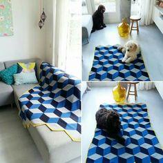 Gehaakt deken. Ontwerp is van Jellina-creations! Made by me!