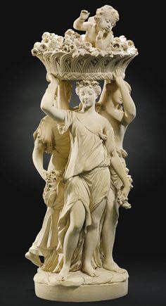 Louis-Simon Boizot (1743-1809) French, 1778 |LES TROIS GRÂCES CARIATIDES PORTANT UN AMOUR DANS UNE CORBEILLE (THE THREE GRACES CARRYING A CUPID IN A BASKET)  | Sotheby's