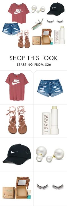 """Untitled #34"" by sydhobbs on Polyvore featuring NIKE, Therapy, Allurez, Benefit, Battington and Parasol"