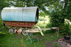 Parked Gypsy Wagon | Tiny House Swoon