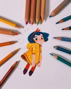 Sketches and explorings on Behance drawing inspiration Sketches and explorings Character Design Cartoon, Cartoon Art Styles, Character Art, Pencil Illustration, Character Illustration, Arte Sketchbook, Polychromos, Color Pencil Art, Sketchbook Inspiration